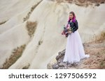 bride with creative hair...   Shutterstock . vector #1297506592