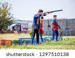 shooting sports. team workouts  ... | Shutterstock . vector #1297510138