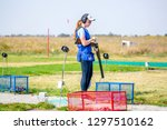 shooting sports. team workouts  ... | Shutterstock . vector #1297510162
