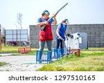 shooting sports. team workouts  ... | Shutterstock . vector #1297510165