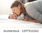 mom and baby having wonderful... | Shutterstock . vector #1297512262