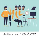cartoon character animation.... | Shutterstock .eps vector #1297519942
