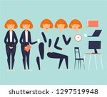 cartoon character animation.... | Shutterstock .eps vector #1297519948