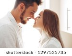 loving couple have fun at home. ... | Shutterstock . vector #1297525735