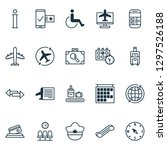 airport icons set with disabled ...   Shutterstock .eps vector #1297526188