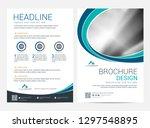 brochure template flyer design... | Shutterstock .eps vector #1297548895