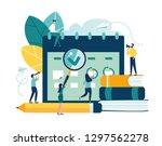 vector illustration. little... | Shutterstock .eps vector #1297562278
