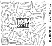 tools and equipment traditional ... | Shutterstock .eps vector #1297563472