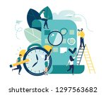 vector illustration  whiteboard ... | Shutterstock .eps vector #1297563682