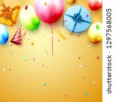 happy birthday party template... | Shutterstock .eps vector #1297568005