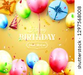happy birthday party template... | Shutterstock .eps vector #1297568008