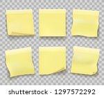 yellow memo reminder papers.... | Shutterstock .eps vector #1297572292
