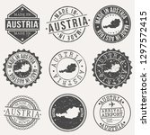 austria travel stamp made in... | Shutterstock .eps vector #1297572415
