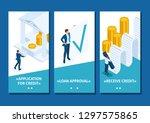 isometric template app...   Shutterstock .eps vector #1297575865