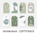 a set of eight modern and... | Shutterstock .eps vector #1297576615