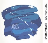 aries hand drawn zodiac sign... | Shutterstock .eps vector #1297590682