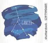 cancer hand drawn zodiac sign... | Shutterstock .eps vector #1297590685