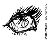 illustration outline eyes... | Shutterstock . vector #1297594372