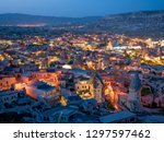 night view of goreme ... | Shutterstock . vector #1297597462