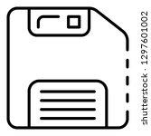 floppy disk icon. outline... | Shutterstock .eps vector #1297601002
