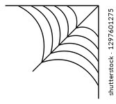 corner cobweb icon. outline... | Shutterstock .eps vector #1297601275