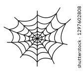 danger spider web icon. outline ...   Shutterstock .eps vector #1297602808