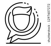 webinar chat bubble icon.... | Shutterstock .eps vector #1297607272