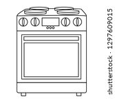 home appliances vector drawings ... | Shutterstock .eps vector #1297609015