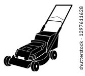 electric lawn mower logo icon....   Shutterstock .eps vector #1297611628