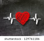 heartbeat character and design  ... | Shutterstock . vector #129761186