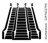 triple escalator icon. simple...   Shutterstock .eps vector #1297612795