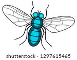 illustration of the fly insect... | Shutterstock .eps vector #1297615465