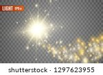 blazing shooting star. star... | Shutterstock .eps vector #1297623955