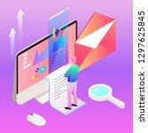 digital marketing vector... | Shutterstock .eps vector #1297625845