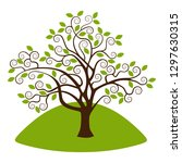 stylized tree with leaves....   Shutterstock .eps vector #1297630315