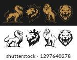 lion logo set | Shutterstock .eps vector #1297640278