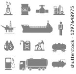 oil icon set | Shutterstock . vector #1297648975