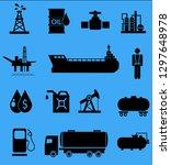 oil icon set | Shutterstock . vector #1297648978