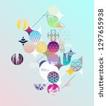 colorful geometric design. | Shutterstock .eps vector #1297655938