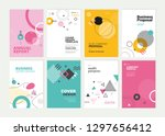 set of brochure  annual report  ... | Shutterstock .eps vector #1297656412