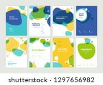 set of brochure  annual report  ... | Shutterstock .eps vector #1297656982