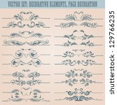 vector set  floral decorative... | Shutterstock .eps vector #129766235