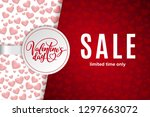 valentine's day holiday sale... | Shutterstock .eps vector #1297663072