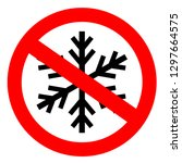 do not freeze sign on white... | Shutterstock .eps vector #1297664575
