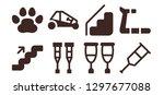 walk icon set. 8 filled walk... | Shutterstock .eps vector #1297677088