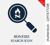 bonfire search icon. editable... | Shutterstock .eps vector #1297677238