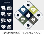cardiac icon set. 13 filled... | Shutterstock .eps vector #1297677772