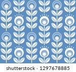 scandinavian folk style flowers ... | Shutterstock .eps vector #1297678885