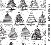 seamless pattern of different...   Shutterstock .eps vector #1297680718