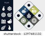 pear icon set. 13 filled pear... | Shutterstock .eps vector #1297681132